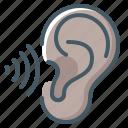ear, hear, hearing