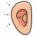 audio, body, ear, hear, human, sound icon