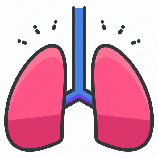 body, breathe, human, lung, lungs, organ icon