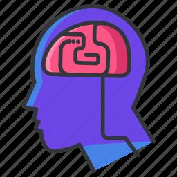 body, brain, head, human, neurology icon