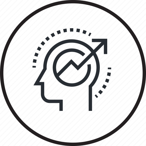 brain, human, line, mind, power, process icon