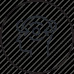 brain, concentracion, focus, human, process, psychology icon
