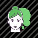face, female, girl, confusion, feeling, emotion, emoji icon