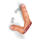 contract, gesture icon