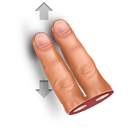 gesture, swipe, vertically icon