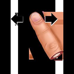 gesture, horisontally, slide icon