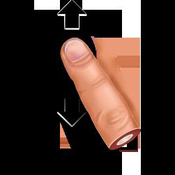 gesture, slide icon