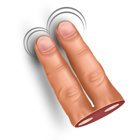 finger, gesture, swipe, two icon