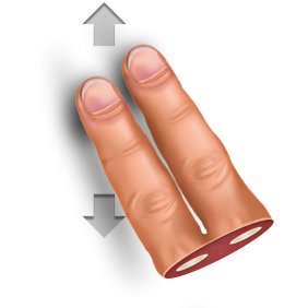 Vertically, swipe, gesture icon
