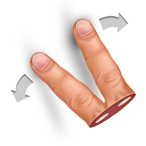 expand, finger, gesture, two icon
