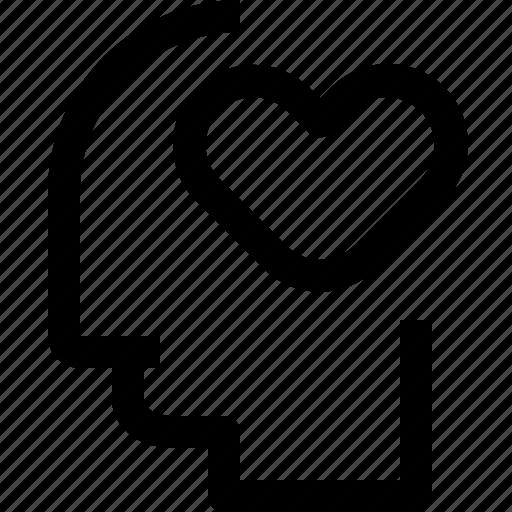 business, head, heart, human, idea, mind, process icon