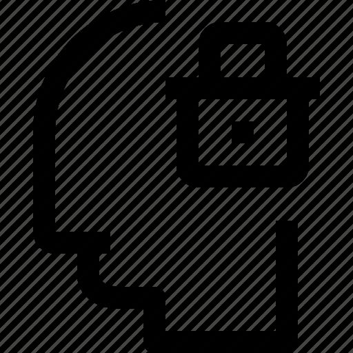 business, head, human, idea, lock, mind, process icon
