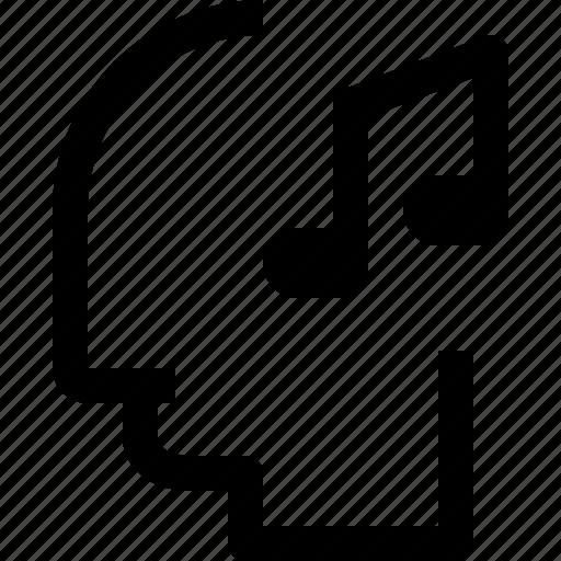 business, head, human, idea, mind, music, process icon