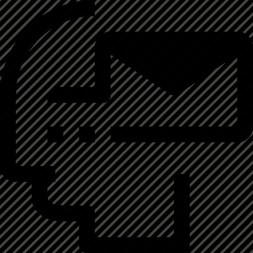 business, head, human, idea, message, mind, process icon
