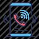 call, ringing, smartphone, urgent icon