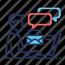 busy, deadline, information glut, tired icon