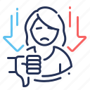 failure, loss of motivation, low mood, stress icon