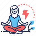 angry, meditating, panic attacks, stress icon