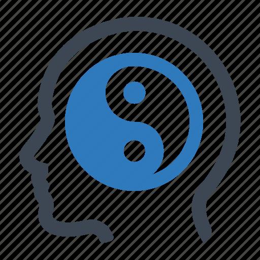 balance, meditation, relax icon