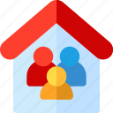 architecture and city, familiar, house, humanpictos icon