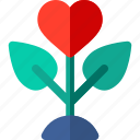heart, love, lover, nature, plant icon