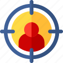 marketing, people, target, user, weapons icon