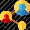 link, network, team, work icon