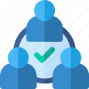 communication, meeting, people, team, users icon