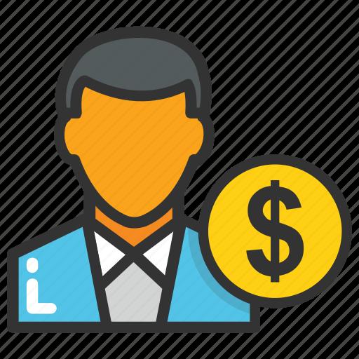 businessman, dealer, entrepreneur, industrialist, investor icon