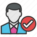 human resources, job hiring, job interviews, recruitment, selection procedure icon