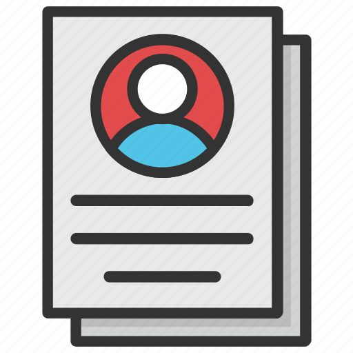 Curriculum Vitae Cv Job Profile Personal Informations Resume Icon