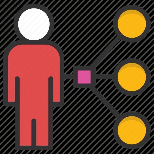 leader, project team, supervisor, team lead, team management icon