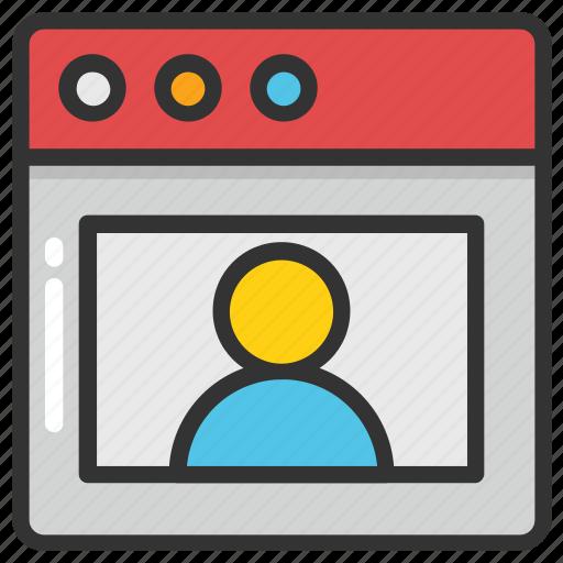 live chat, online communication, online interview, social web, virtual assistant icon