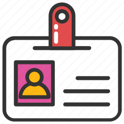 card, id badge, id card, identity card, job card icon