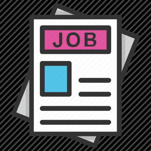 employment, job ads, job hiring, job opportunities, recruitment icon