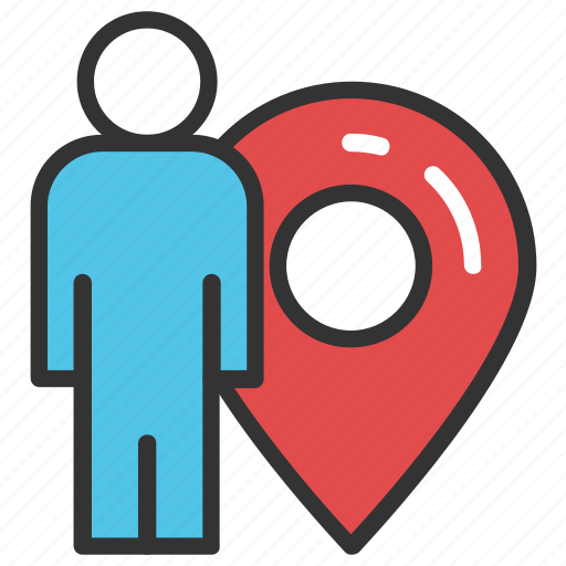 geolocalization, gps man, location positioning, man locator, man with locator icon