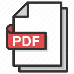 document format, file extension, file format, file type, pdf file icon
