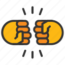 coalition, fist bump, friendship, knockout, pound it icon