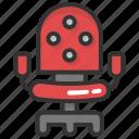 furniture, mesh chair, office chair, revolving chair, seat icon