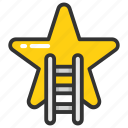 achievement, advancement, progress, promotion, success icon