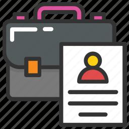 curriculum vitae, cv, job profile, personal informations, resume icon