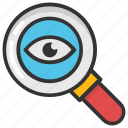 analysis, inspection, investigation, preview, survey icon