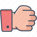 hand, power, punch, rock, strength icon icon