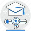 academic, certificate, degree, graduation, hr, human, resource icon