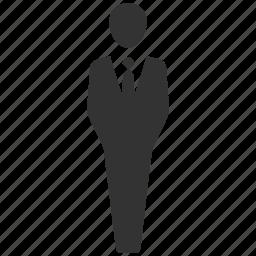 agent, businessman, driver, man, officer, salaryman, waiter icon