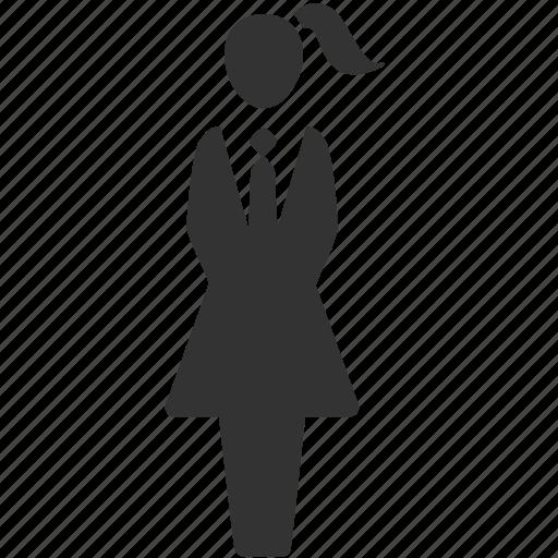 businesswoman, female, girl, lady, waitress, woman, working women icon