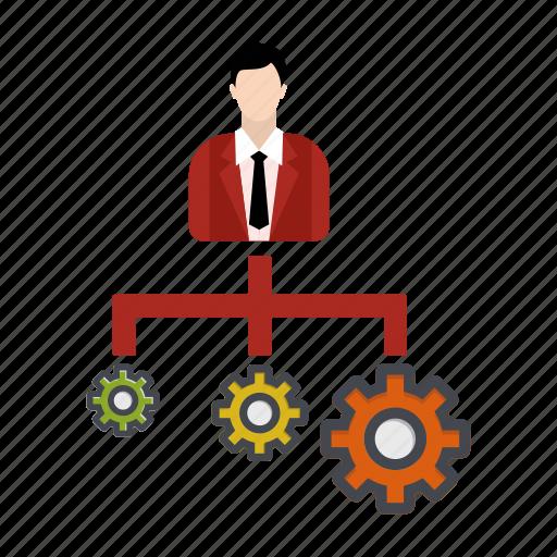business, businessman, management, project icon
