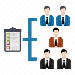 checklist, discussion, group, growth, management, team icon