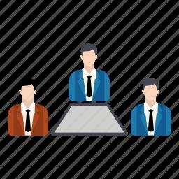 discussion, group, growth, seminar, teamwork icon