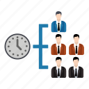 discussion, group, growth, management, team, time icon